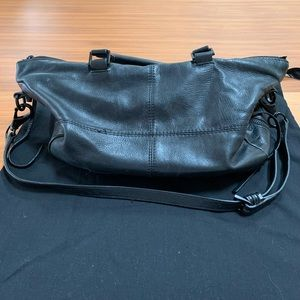 She + Lo Bags - She + Lo Black Leather Shoulder Bag / Handbag
